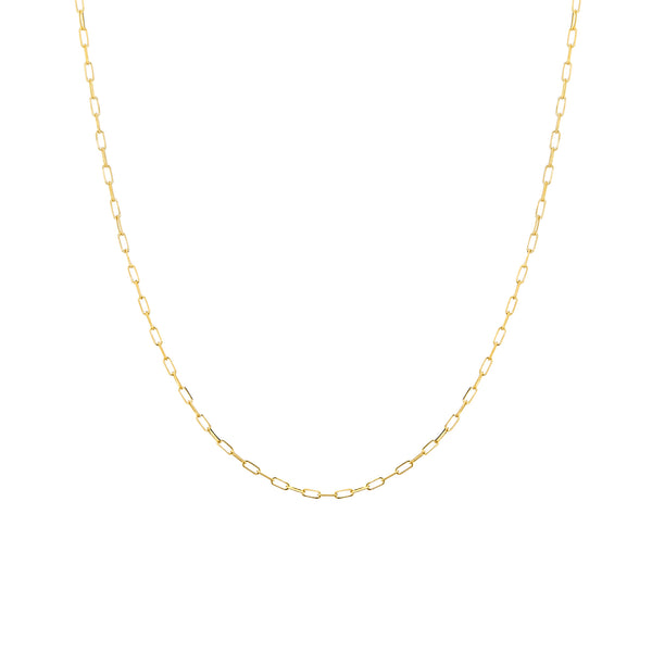 Elemental Long Gold Chain Necklace