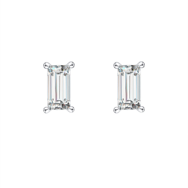 Modern Diamond Baguette Earrings