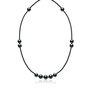 Harmony Eleven Black Pearl Necklace