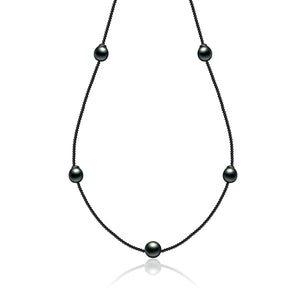 Harmony Five Black Pearl Necklace