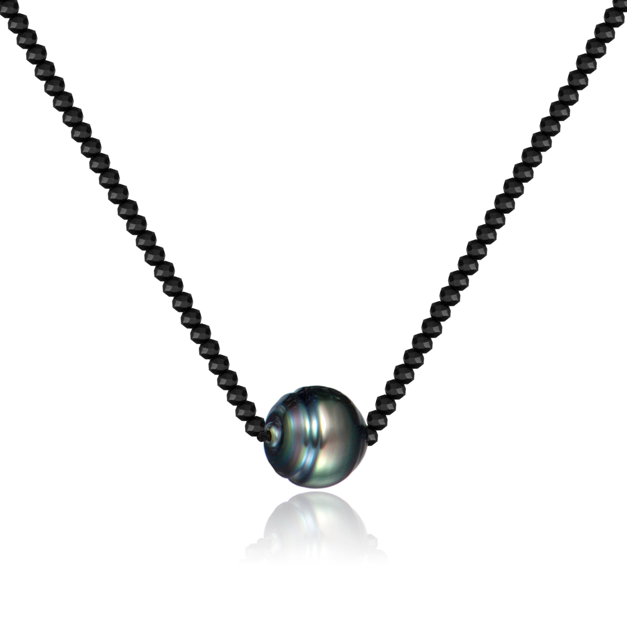 Harmony single black pearl necklace hestia jewels harmony single black pearl necklace aloadofball Image collections