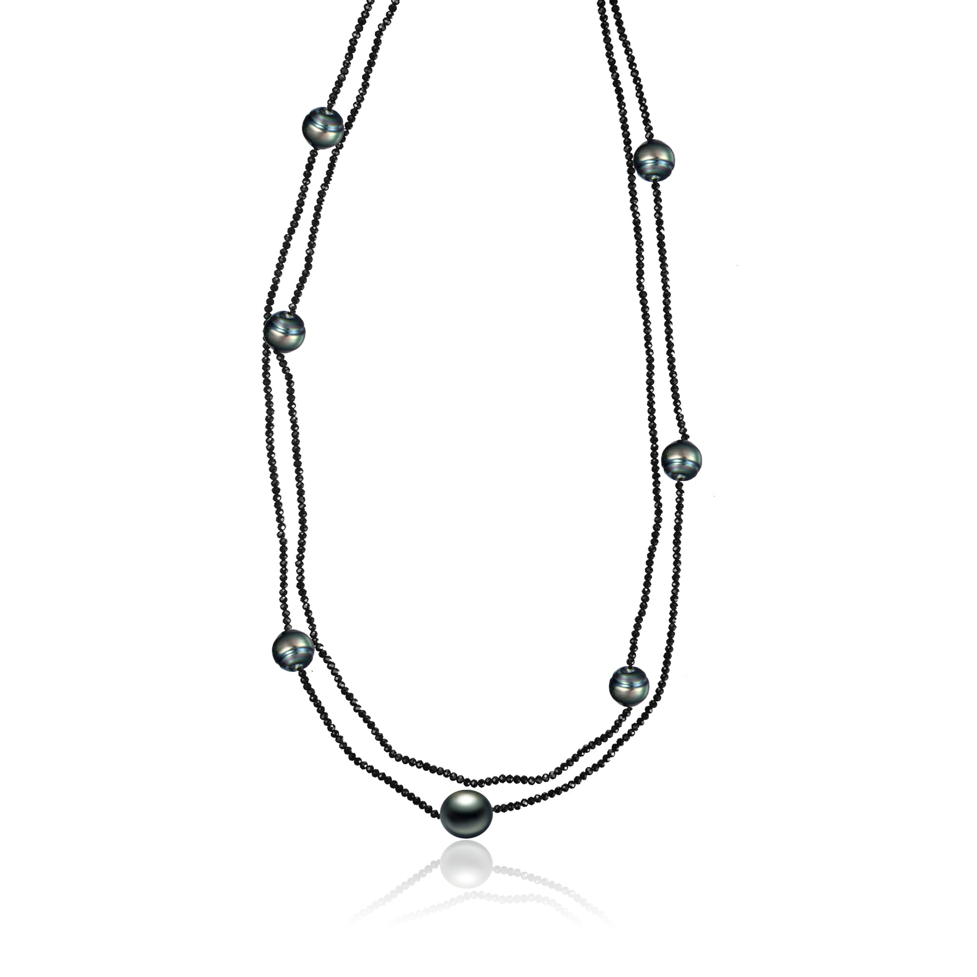 layered harmony hestia products black necklace seven pearl jewels