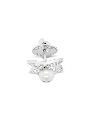 Luck Diamond + Pearl Broach Pendant