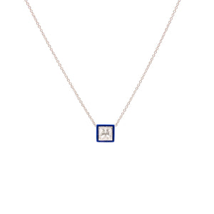 Hearth Ceramic Sapphire Pendant Necklace