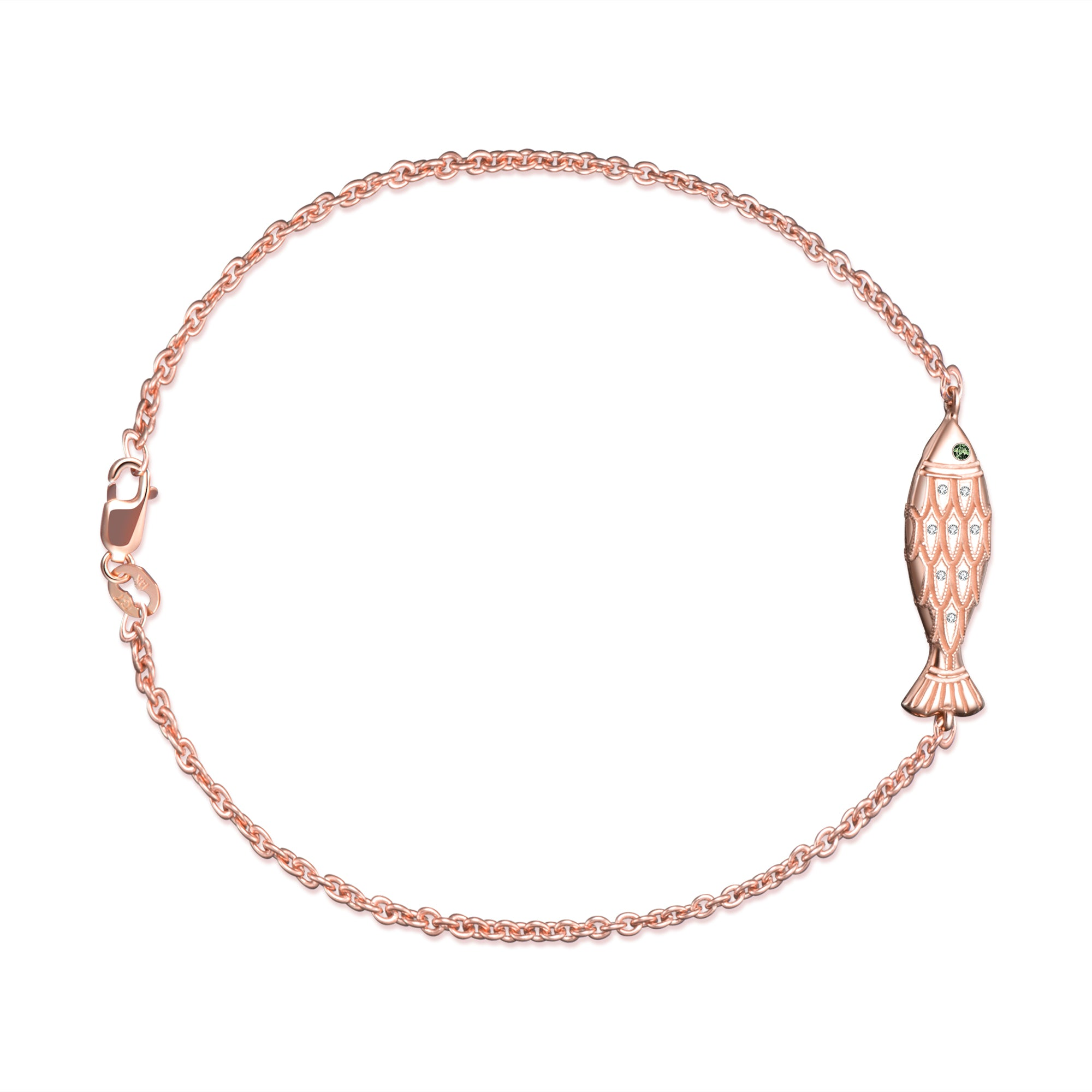 itm rose infinity with length zirconia bracelet zm adjustable anklet cubic k solid gold