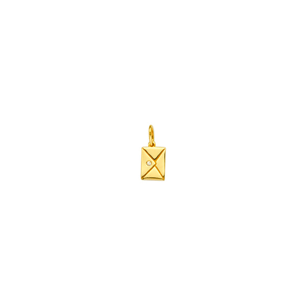 LUCKY LETTER DIAMOND AND GOLD PENDANT CHARM