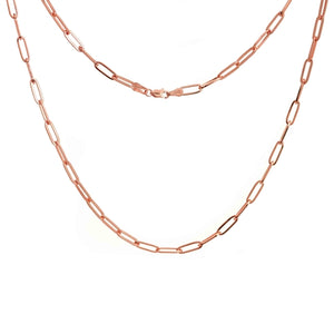 Elemental Rectangular Chain Necklace - Rose Gold
