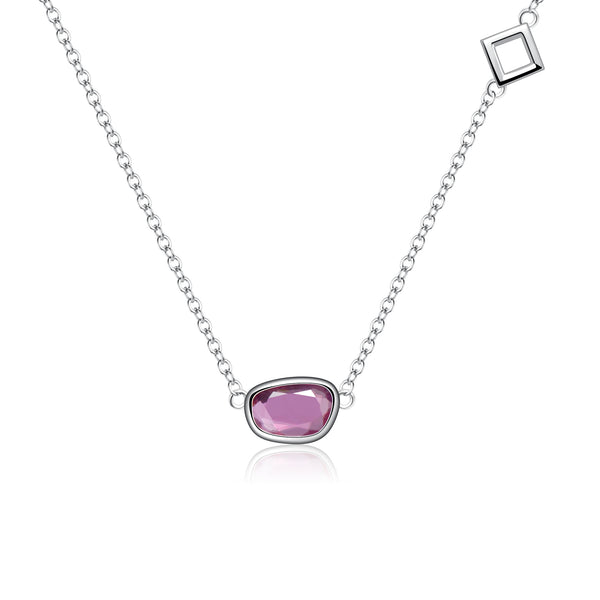 Peace Pink Sapphire Necklace