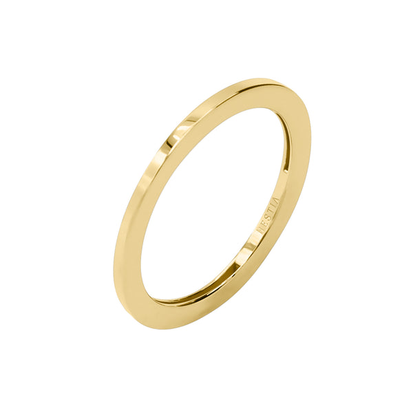 Billie Petite Thin Yellow Gold Ring
