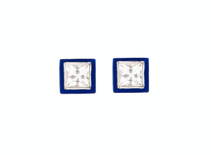 Bella Ceramic Sapphire Earrings