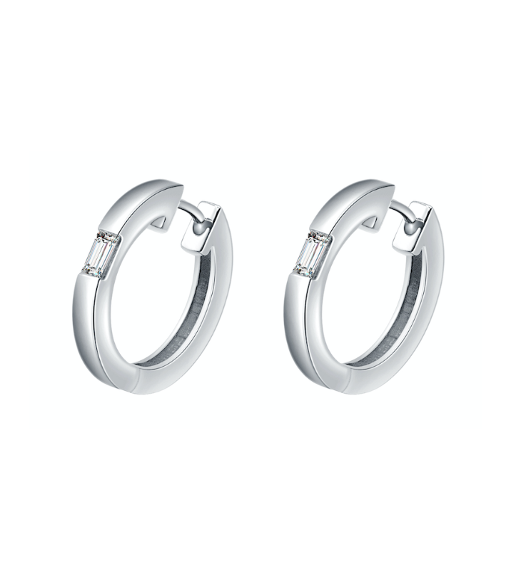 Camilla White Gold Diamond Hoop Earrings