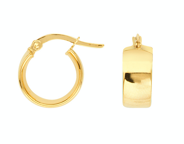 Encircled 14K Gold Hoop Earrings