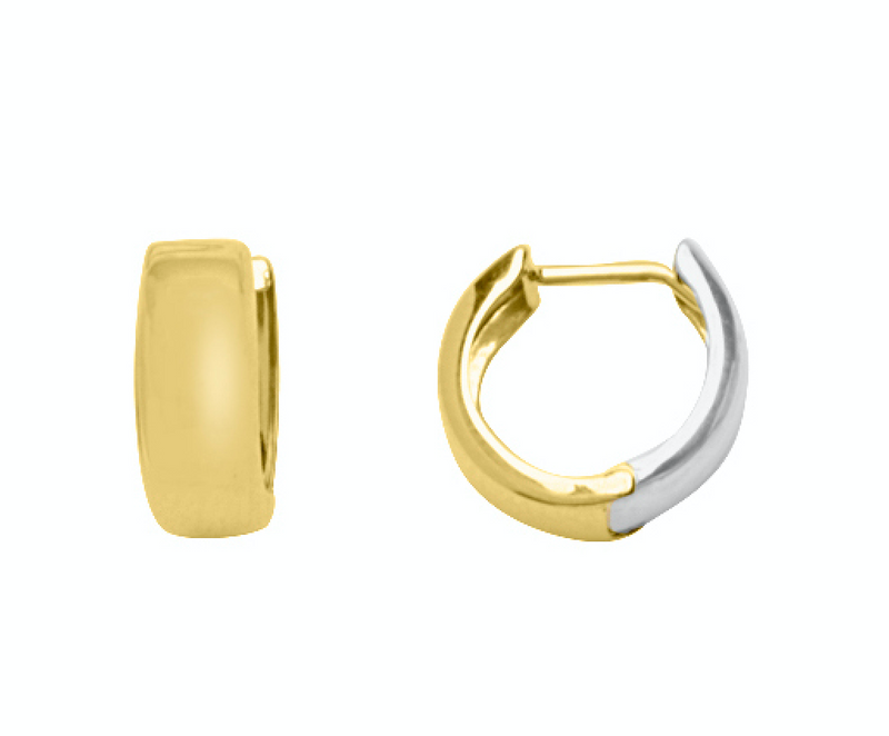 Versatile Two-Tone Gold Hoop Earrings
