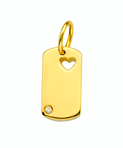LUCKY TAG DIAMOND AND GOLD PENDANT CHARM