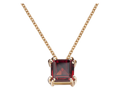 Audrey Red Garnet Pendant Necklace