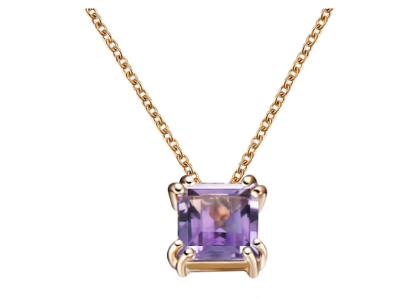 Audrey Purple Amethyst Pendant Necklace