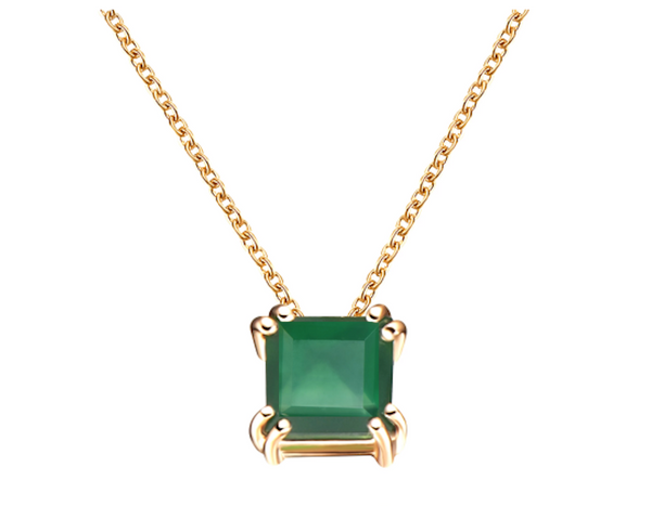 Audrey Green Agate Pendant Necklace