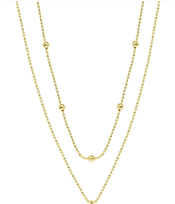Duo Gold Double Layer Necklace