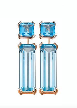 Hestia Swiss Blue Topaz Earrings