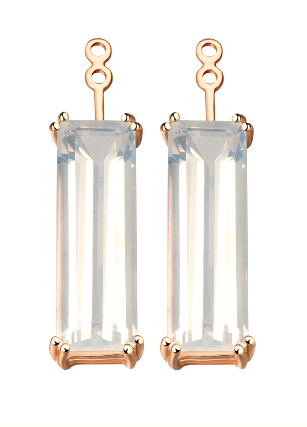 Hestia Sunflower Quartz Gem Bar Earrings