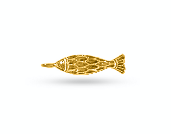 Hestia + Lucky Iron Fish Gold Pendant for Necklace