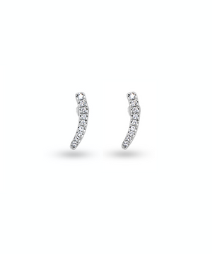 Smile Bar Diamond Earrings