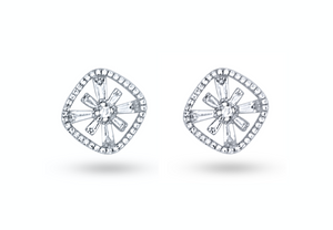 Bright Star Diamond Stud Earrings
