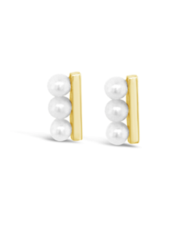 Unique Pearl Bar Earrings