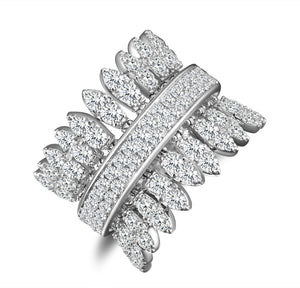 Spettinato One Row Kinetic Diamond Ring - White Gold