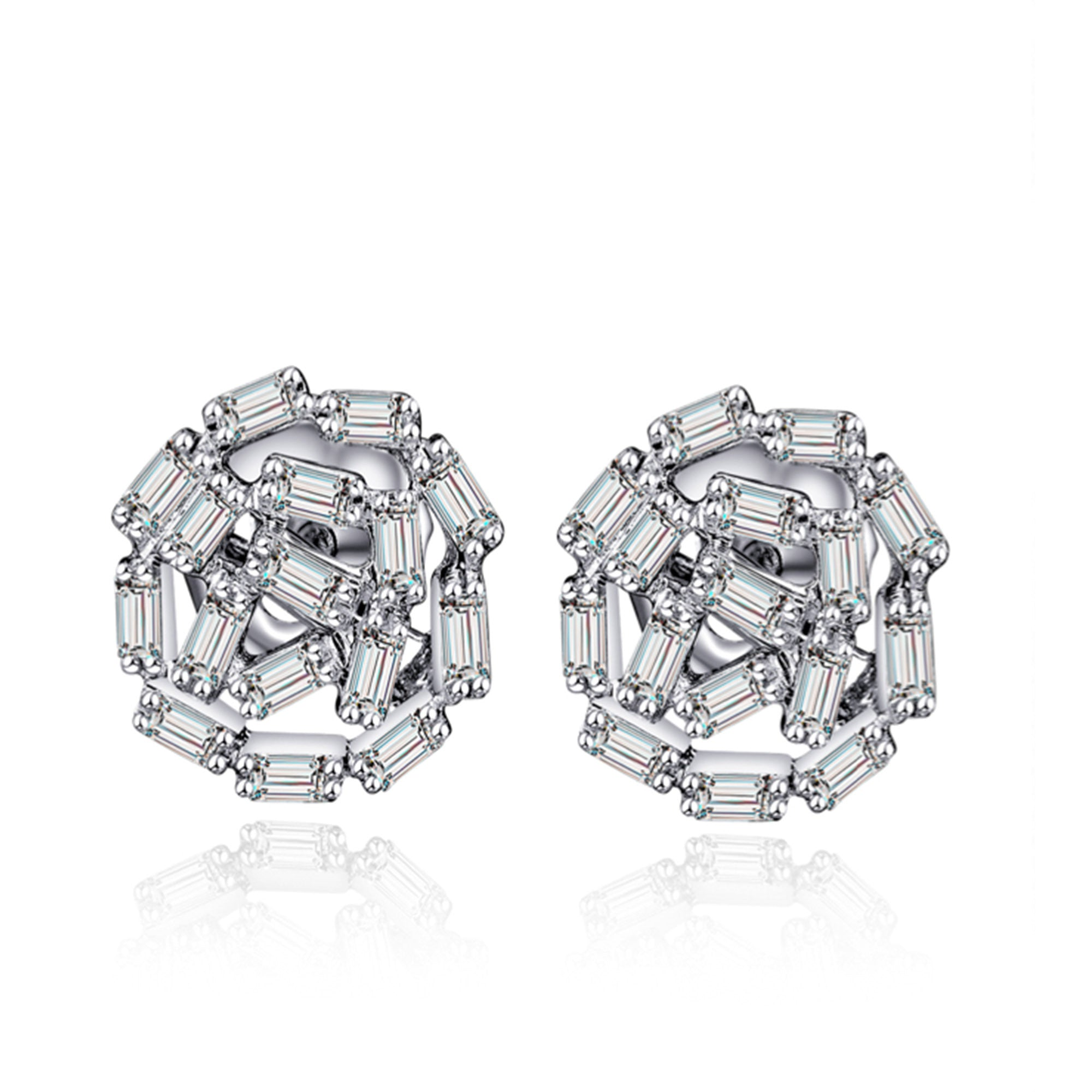 classic earrings square cut diamond jewellery emerald graff stud collections