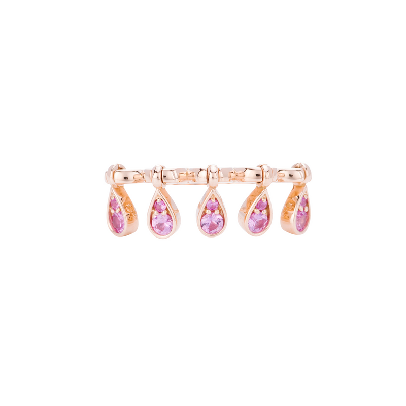 Charleston Sapphire Drops Ring - Pink Sapphires