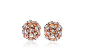 Passion Diamond Stud Earrings - Rose Gold
