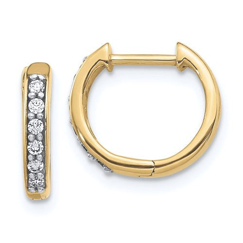 Petite Diamond Hoop Huggie Earrings