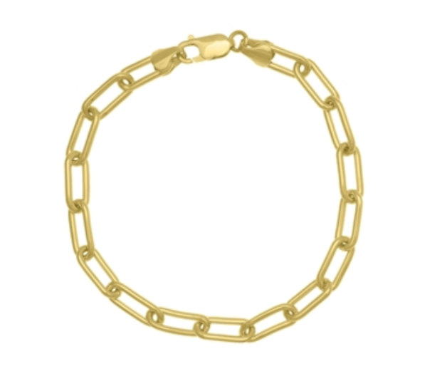 Elemental 14K Solid Gold Thick Chain Bracelet