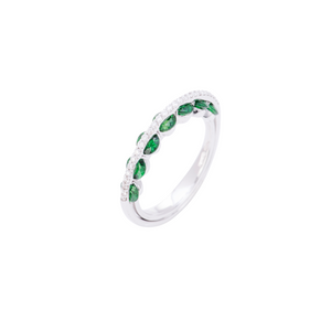 Light Collection Ring - Diamonds and Emeralds