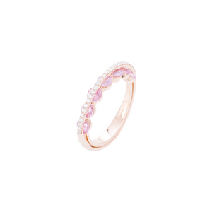 Light Collection Ring - Diamonds and Pink Sapphires