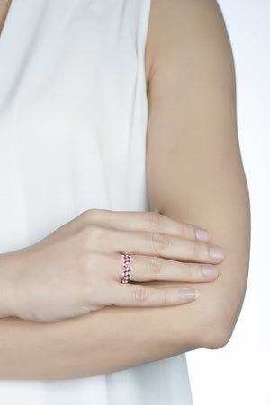 Happiness Stack Ring - Diamonds and Rubies