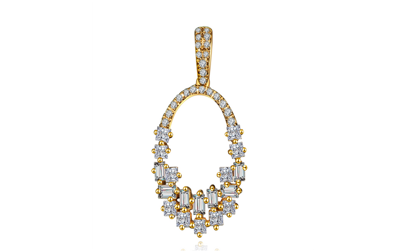 Illuminate Baguette Diamond Pendant Necklace