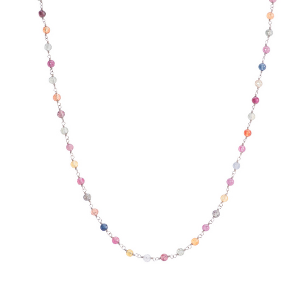 Inspire Necklace - Colorful Sapphire Beads