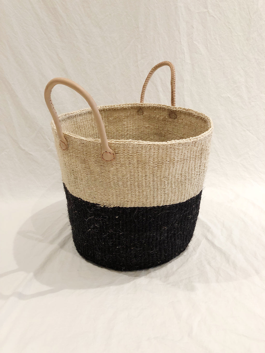 Medium Basket with Leather Handles