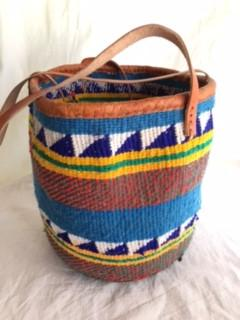Medium Basket with Leather Trim