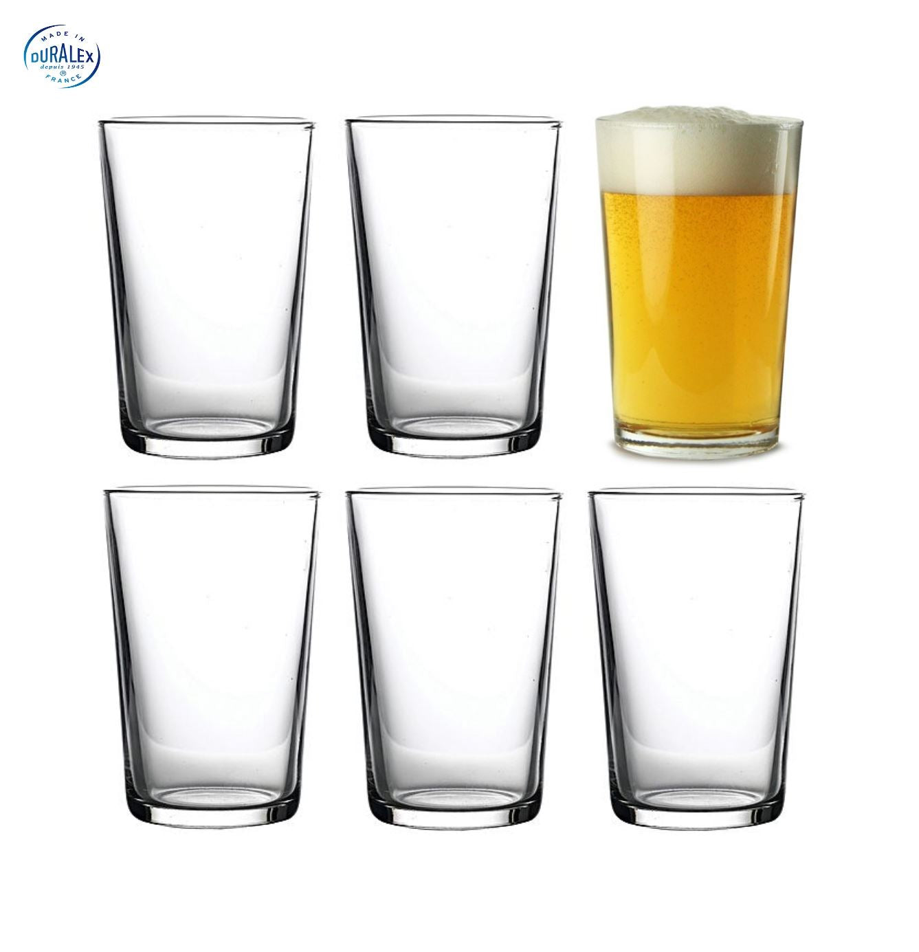 Duralex Half Pint Glass Pack Of 6 - lomasupply