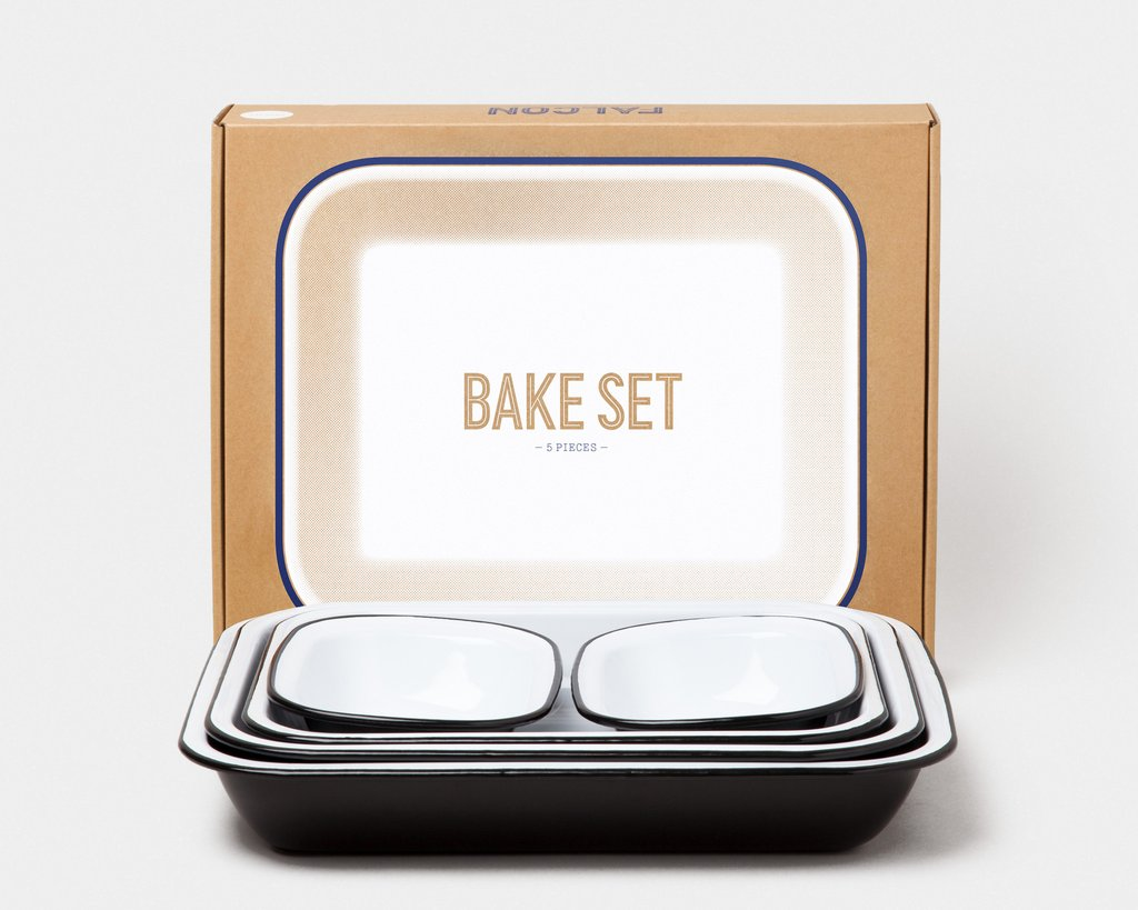 Falcon 5 Piece Bakeware Set Coal Black