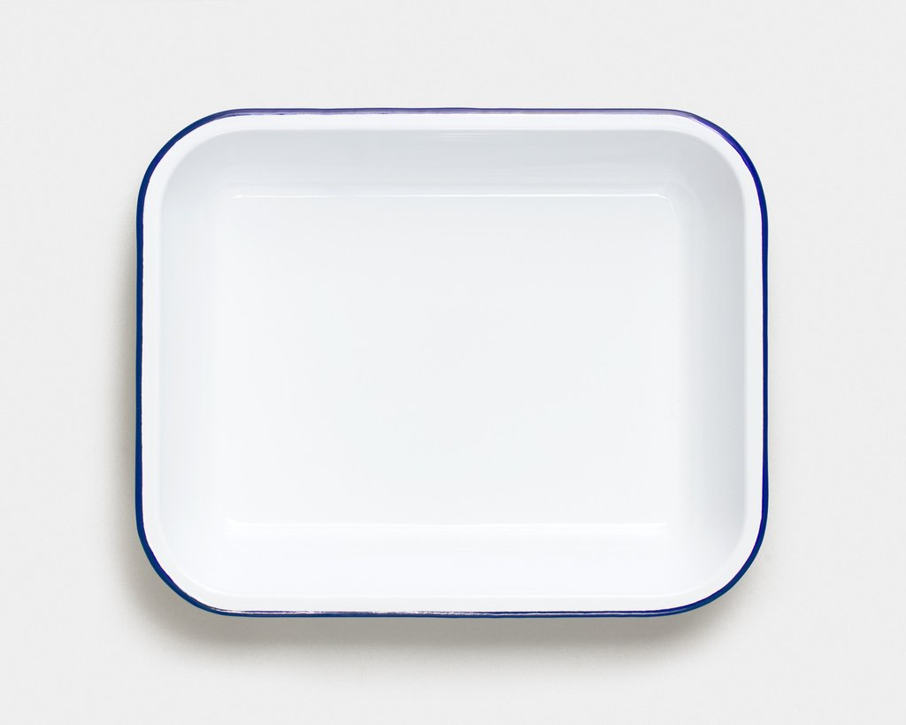 Falcon 5 Piece Bakeware Set White With Blue Rim - lomasupply