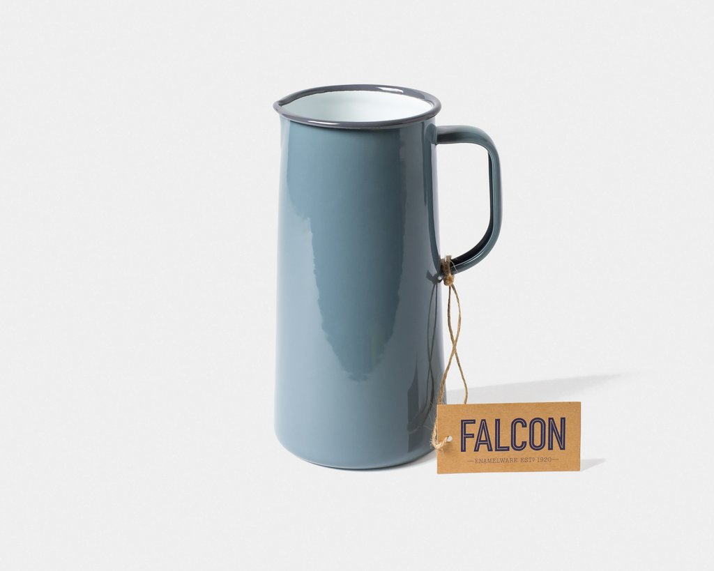 Falcon Enamel 3 Pint Jug Grey