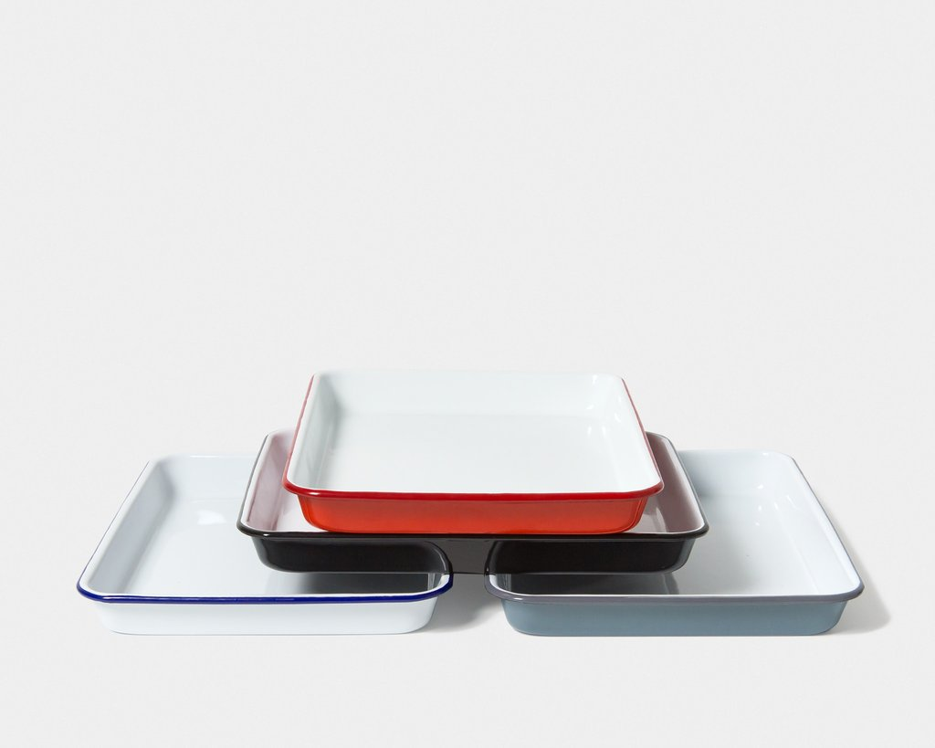 Falcon Kitchen Tray Red With White - lomasupply