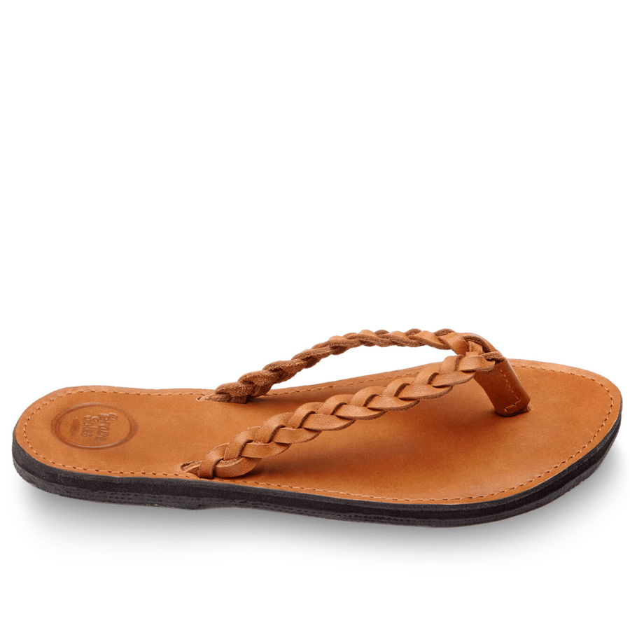 The trenza Classic leather flip flops