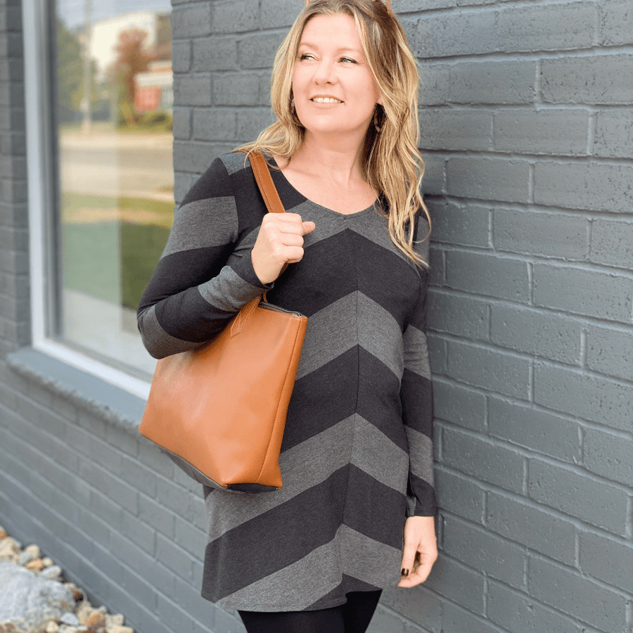 The Caterina Leather Tote Purse