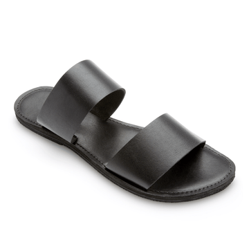 Ophelia Leather slide sandals.