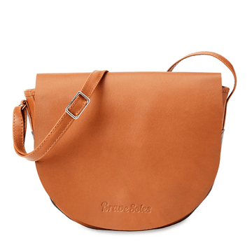 Media luna leather purse